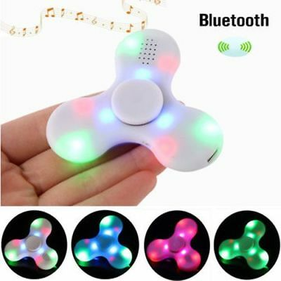 ECUBEE Bluetooth Hand Spinner Chargeable Music LED Fidget Spinner Finger Focus R