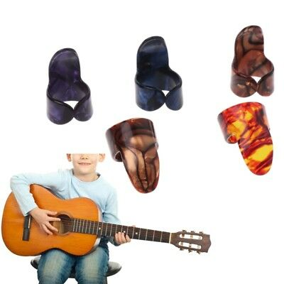 4Pcs Index Finger Guitar Pick Celluloid Mediator for Acoustic Electric Guitar