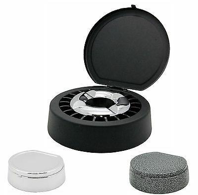 Wind Protected Ashtray/Ashtray/Smoke Free with Lid in Three Different Colours