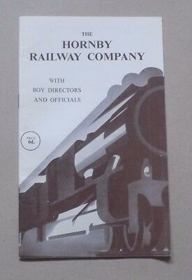 Vintage Booklet THE HORNBY RAILWAY COMPANY with boy directors & officials