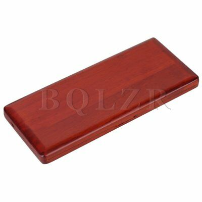 Amber Color Practical Handmade Wooden Saxophone Reed Box Case Hold 10 Reeds