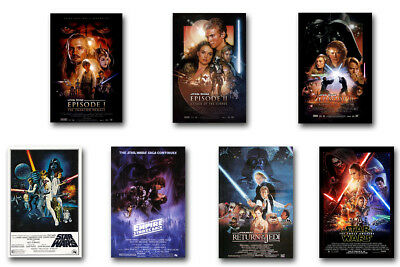 Star Wars EpisodeⅠ.Ⅱ.Ⅲ.Ⅳ.Ⅴ.Ⅵ.Ⅶ.Ⅷ.classic movie poster print door decor (90x60cm)