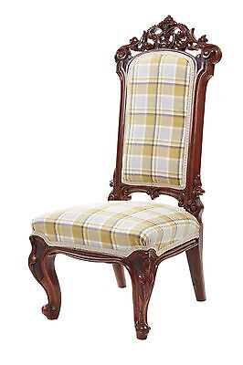 Outstanding Quality Carved Walnut Nursing Chair