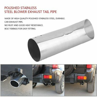 Blow Down Exhaust Tail Pipe Car Auto Modified Rear Polished Stainless Steel UK