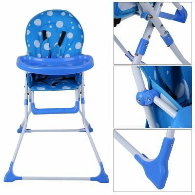 BEST Simple Fold Portable Baby High Chair Infant Child Folding Feeding Seat DE
