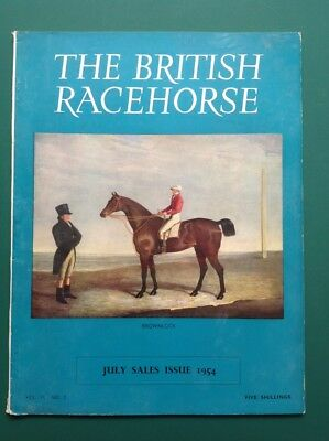 Horse Racing magazine The British Racehorse July Sales 1954 Brownlock