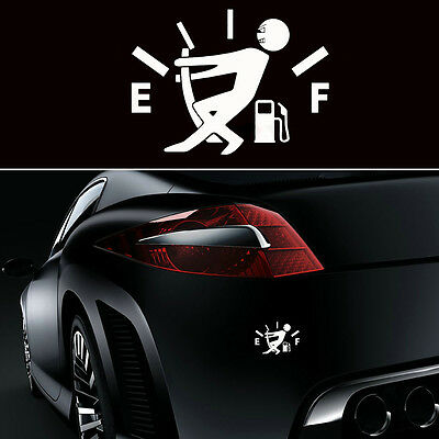 Fashion Fuel Tank Pointer JDM Funny Pull To Full Vinyl Novelty Car Sticker Decal