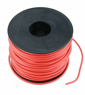 rot 1mm PVC Gestrandet Auto Kabel 32/0.2mm 50m Rolle