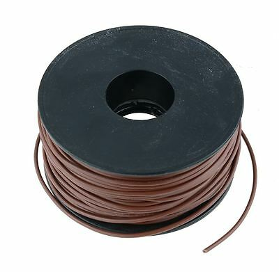 Marron 0.5mm PVC échoués AUTOMOBILE Câble Câble 28/0.15MM 50m bobine