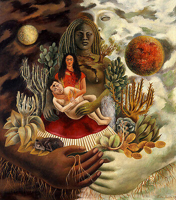 Frida Kahlo Love embraces the universe canvas print giclee 8X8&12X12 poster