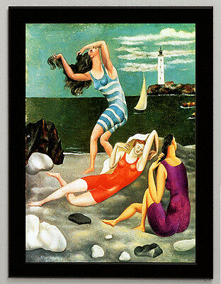 Pablo Picasso bathers canvas print framed giclee 8.3X12 reproduction art poster