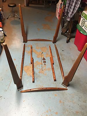 WALTER OF WABASH Vintage Wood Table Legs, Slides, Accent Pieces & Hardware