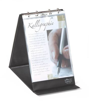 Durable Table Top Presenter / Flipchart A4 Portrait with 4 Ring Mechanism, Black