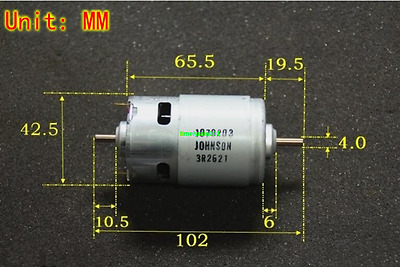 1pcs DC12V 25900rpm 775 High speed motor Carbon brush motor Power tools Toy