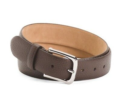 Cole Haan Men's Belt Pebble Leather Belt In Chocolate Brown New W/Tags