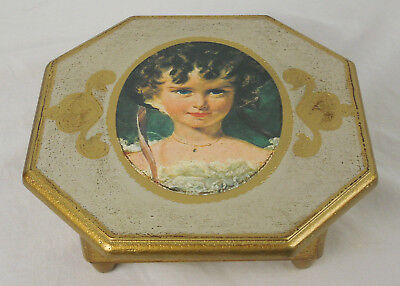 "Vintage Florentine Style Music / Jewelry Wooden Box ""The Shadow of your Smile"""