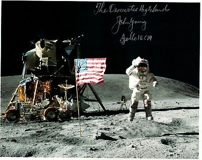 SALE!! Superb Apollo 16 Astronaut John Young Signed Photo