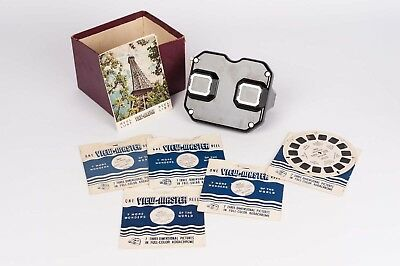View-Master Lot of 5 Reel of U.S.A.  circa 50s + Sawyers Stereoscope Model C