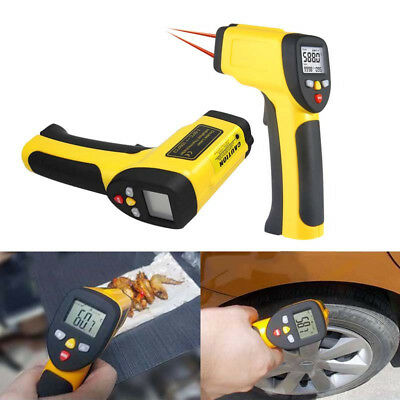 Infrared Thermometer Digital Pyrometer IR Non Contact Temperature Dual Laser