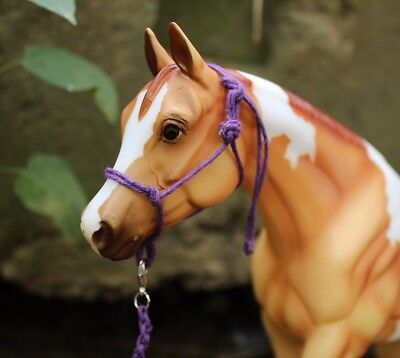 Traditional Scale Model Horse Rope Halter & Matching Lead