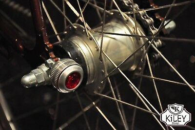 Kiley USB Retro Style Bicycle Front & Rear Light Set brompton LM-016