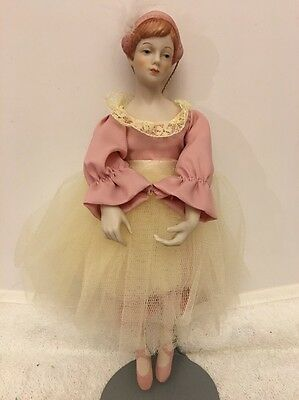 Vintage Schmid Doll House Ballerina Christmas Ornament Nice Condition