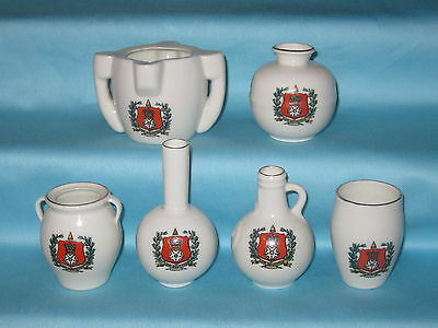 6 Goss Pieces - all with HAMPSHIRE crest
