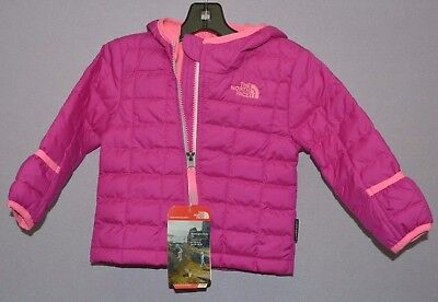 The North Face Infant Girls Thermoball Hooded coat jacket Pink 6 - 12 Months New