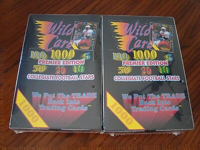 Wild Card Premier Edition Collegiate Football 2 Factory Boxes from New Case