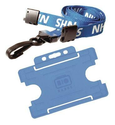 NHS Lanyard Neck Safety Breakaway & Blue NHS ID Card Holder (FREE POST)