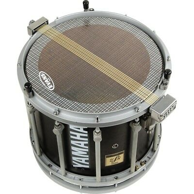Evans Hybrid Marching Snare Side Head Clear #602 Bistro Black