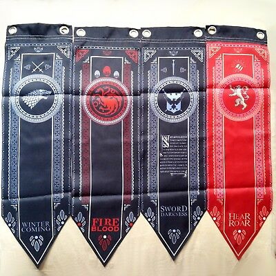 Game of Thrones Flags 150cm and 45cm Long Banner Flag Wall Hanging Drape