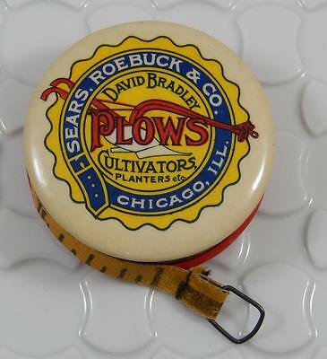 Antique Sears Roebuck & Co. David Bradley Plows Celluloid Sewing Tape M0013