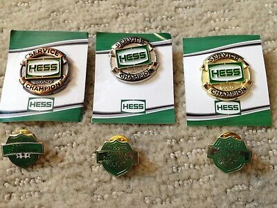 Rare Hess Champion Pin Collection