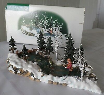 Department 56 Village Accessories The Trout Stream #52834  Ob  Excellent !
