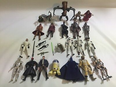 27 Star Wars Action Figure 3.75 Clone Trooper Stormtrooper Army Weapons Hasbro