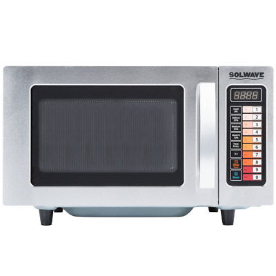 New Solwave Stainless Commercial Microwave Oven Restaurant Equipment Push Button