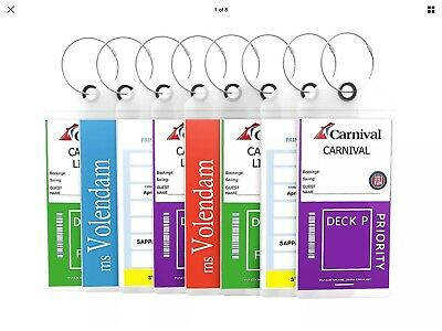 Luggage Tags For Cruising, Carnival, Princess, Cunard, NCL, Holland America, Cos