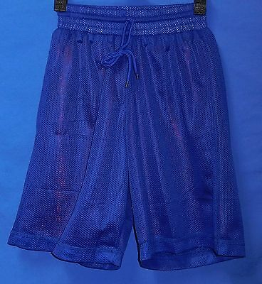 New Blue Red Reversibel Mesh Basketball Shorts Kids Size 8 Lined Training Pants