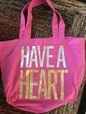 New Victoria's Secret Pink Have A Heart Tote Bag