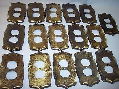 ONE Vintage Amerock Carriage House Single Brass Outlet Plate Cover 16 Available