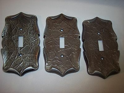 ONE Vintage Amerock Carriage House Single Silver Switch Plate Cover 3 Available