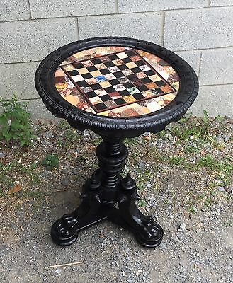 Aesthetic Round Pietra Dura Marble Top Table