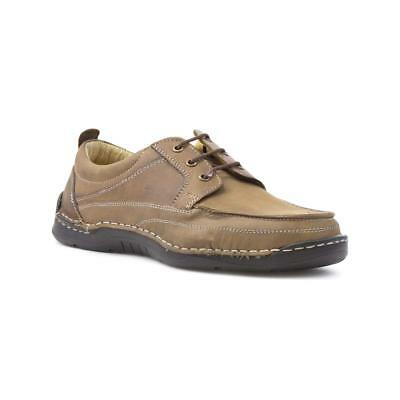 Excelsior Mens Brown Leather Lace Up Casual Shoe - Sizes 7,8,9,10,11,12