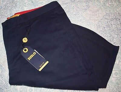 Men's NWT Navy Blue Suslo Couture Flat Front Dress Shorts-Size 36