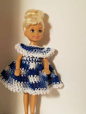 Hand crocheted Mattel Chelsea//Kelly Doll Clothes jam sleeves