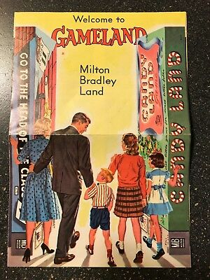 1962 Welcome To Gameland - Milton Bradley Land Game Catalog - Looks Great