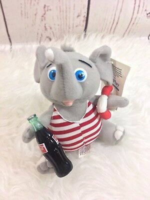 Coca-Cola Brand Plush Collection - Elephant in Red & White Bathing Suit - 1993