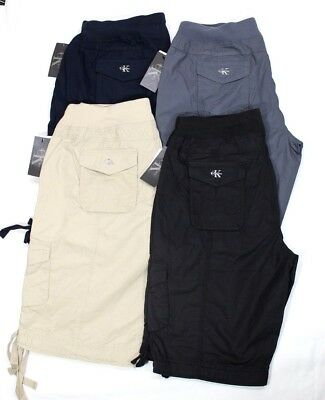 Calvin Klein Women's Cotton Pull-On Bermuda Cargo Shorts Variety Size/ Color Nwt