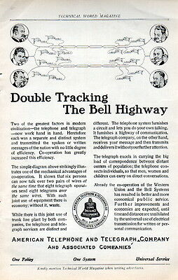 1911 American Telephone & Telegraph  Ad --Double Tracking---[-878